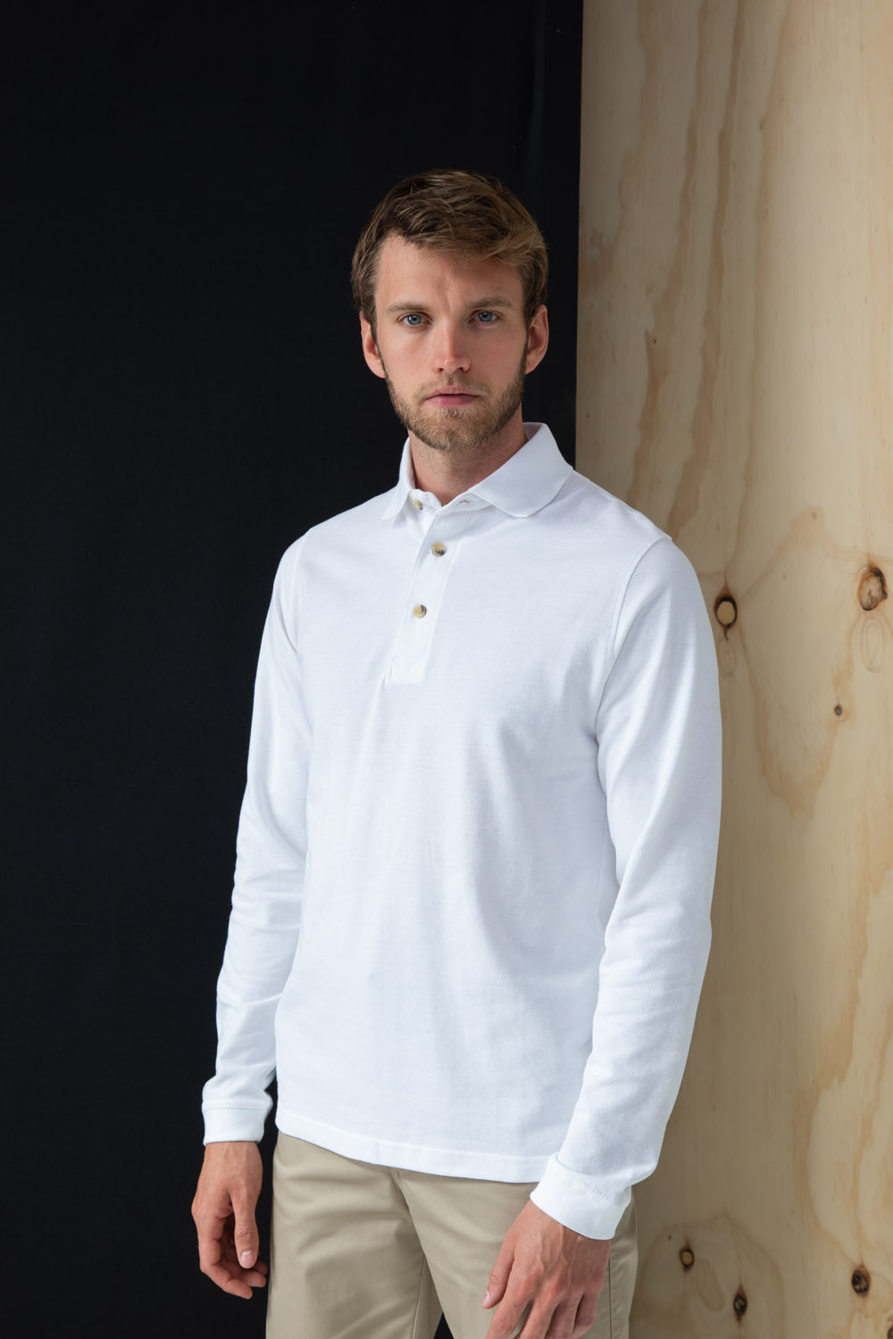 Henbury Mens Classic Plain Polo Shirt with Stand Up Collar