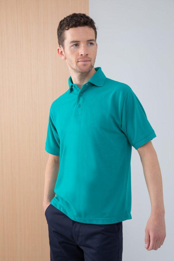 Black Navy Light Blue Mens Stretch long short sleeved semi fitted shirt Henbury