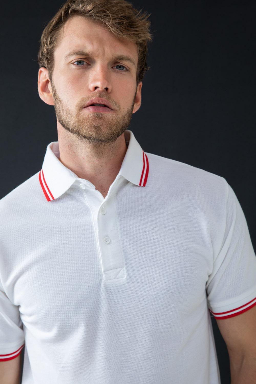 Adults Multi Purpose T-Shirt Henbury 65//35 Tipped Men/'s Pique Polo Shirt H450