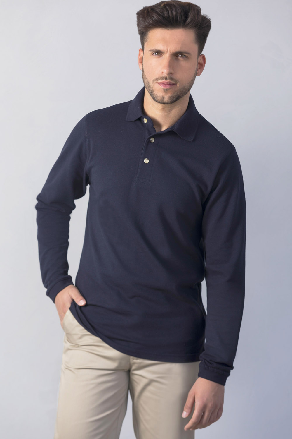a0f679875d64 H105 LONG SLEEVED POLO SHIRT – Henbury