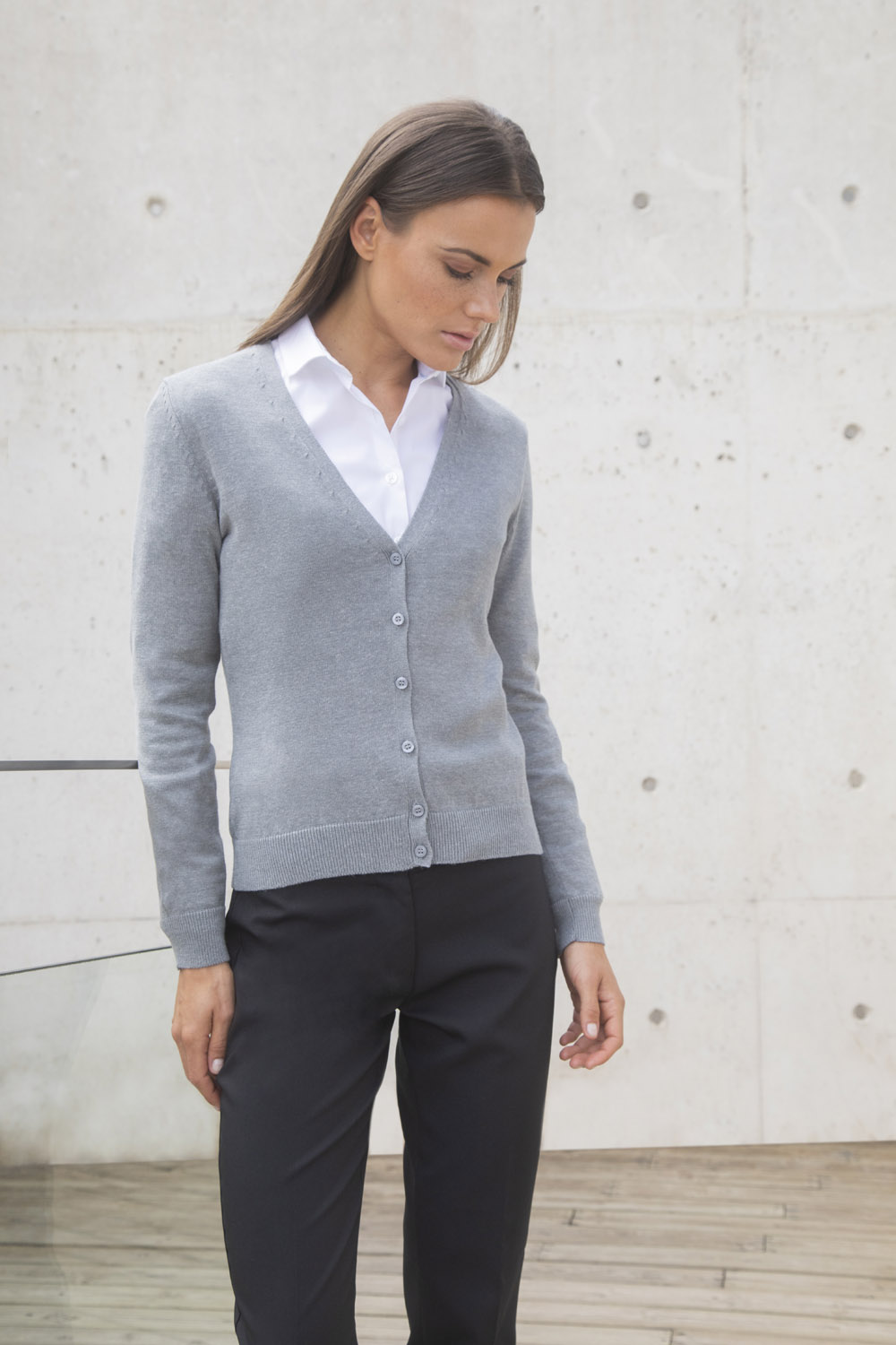 10bc9c689a H726 LADIES  V NECK CARDIGAN – Henbury